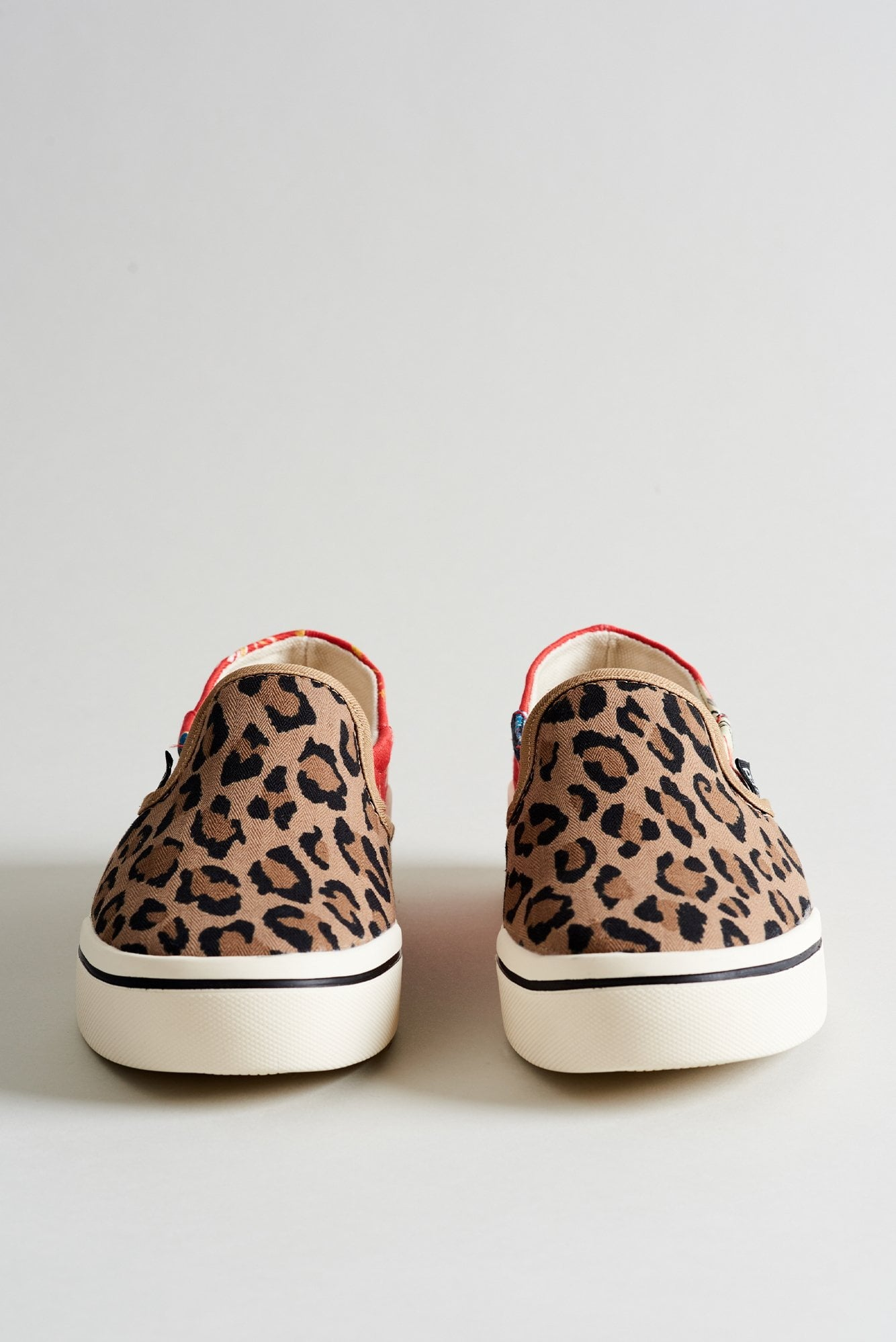 Slip On Sneaker– Red Fish with Leopard