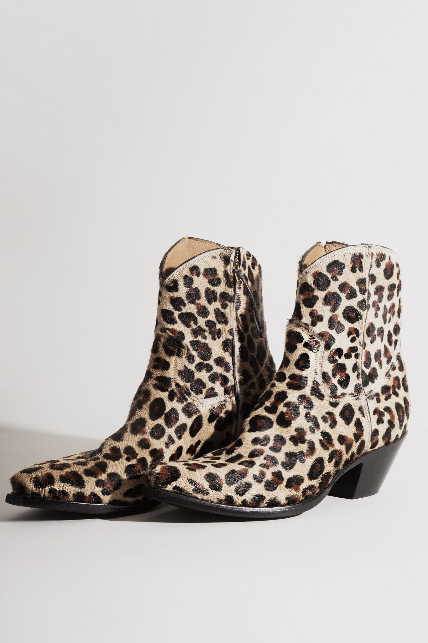 EXCLUSIVE: Cowboy Ankle Boot Leopard