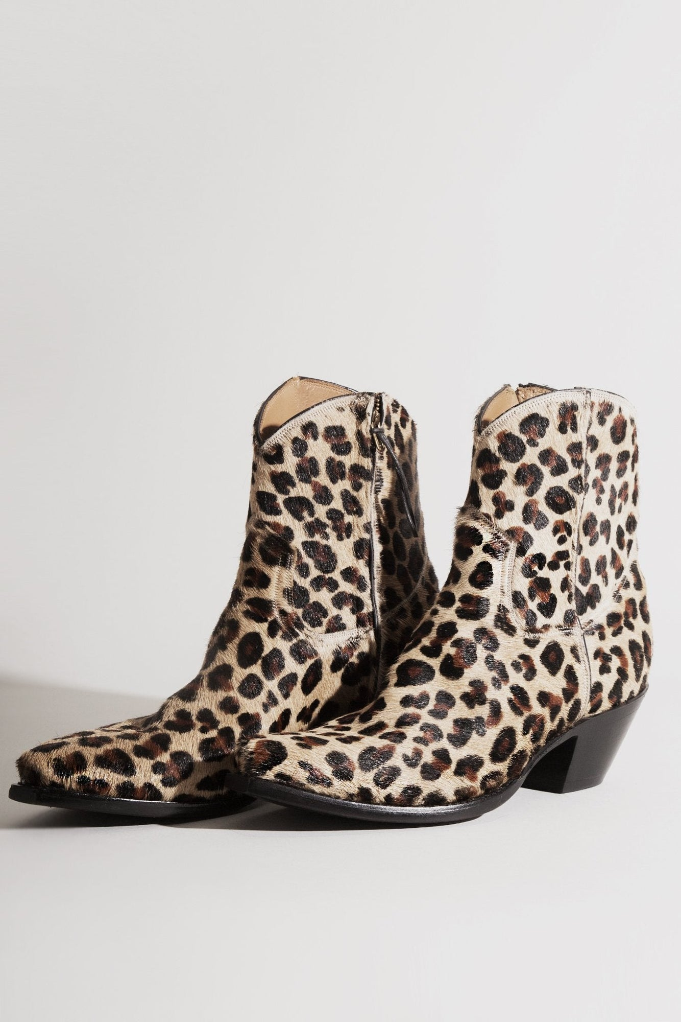 ac3979c29076 EXCLUSIVE  Cowboy Ankle Boot Leopard