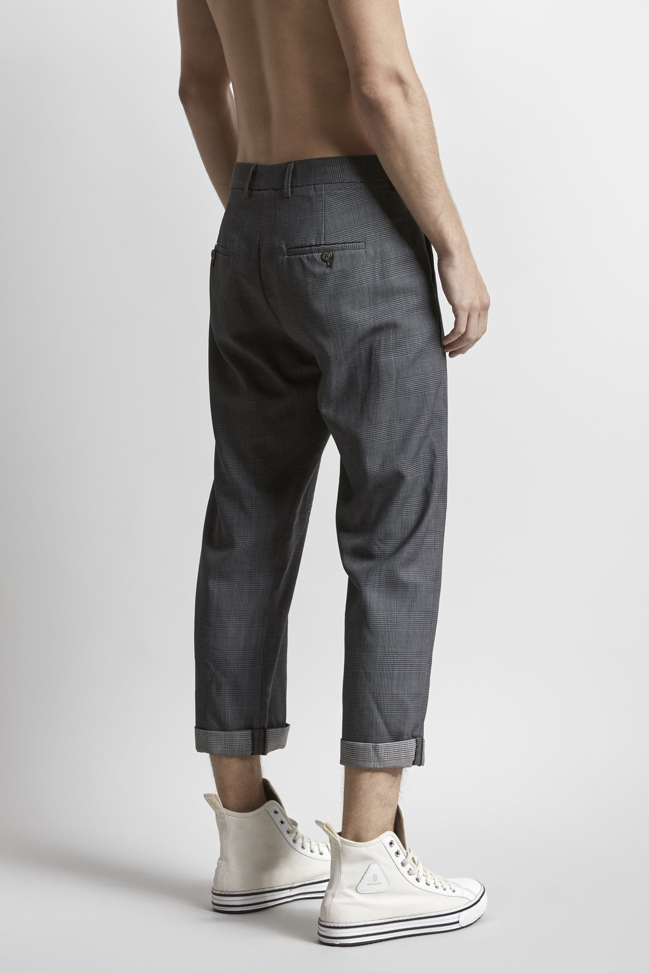 Crossover Trouser- Grey Check