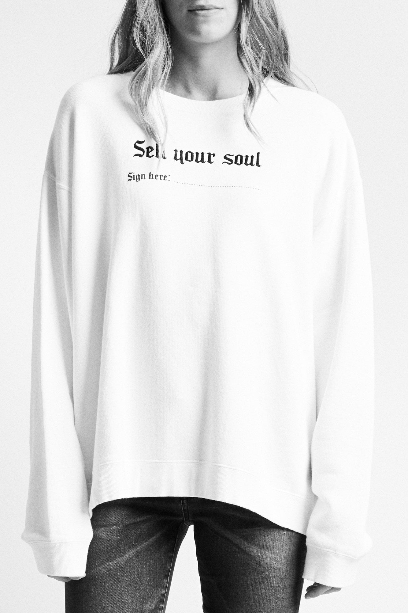 Sell Your Soul Sweatshirt - White