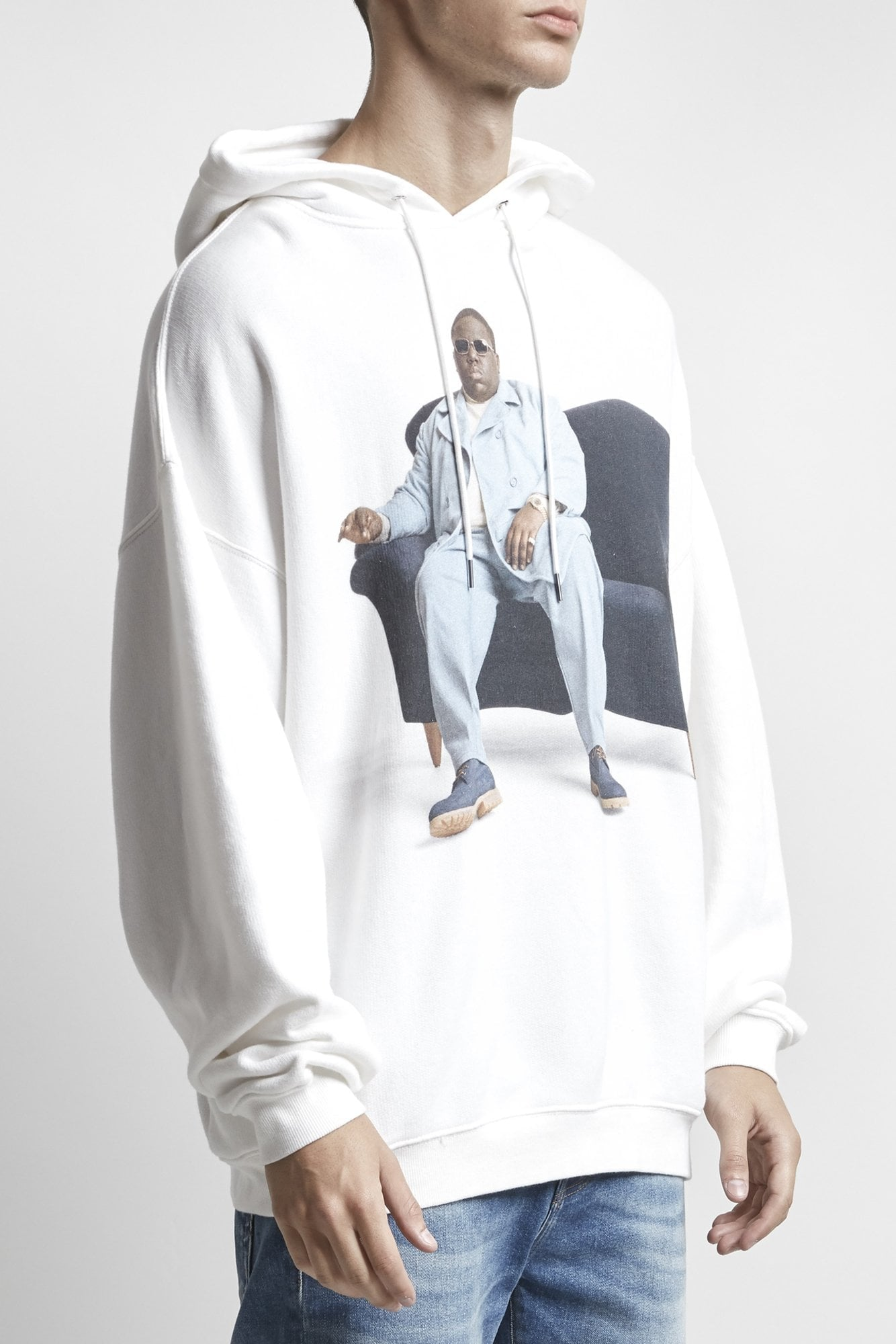 Biggie Couch Hoodie- White