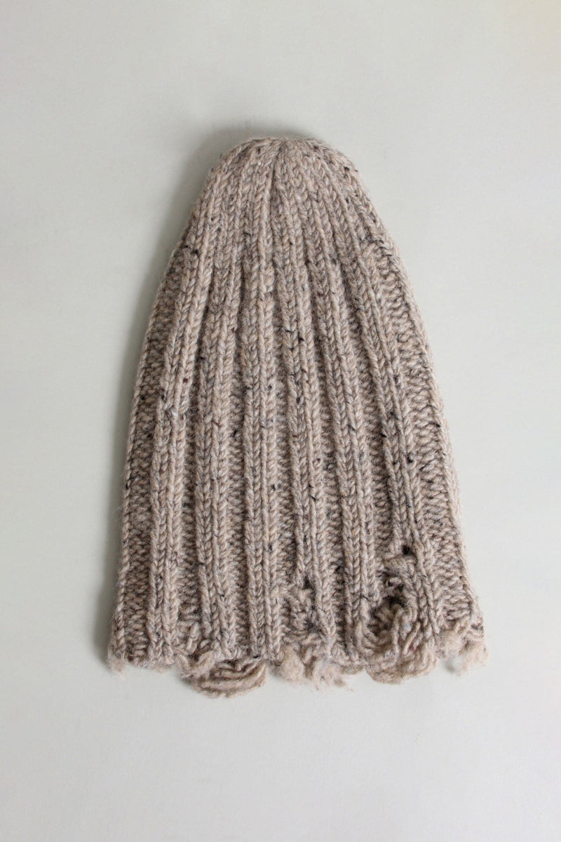 Distressed Chunky Hat - Oatmeal