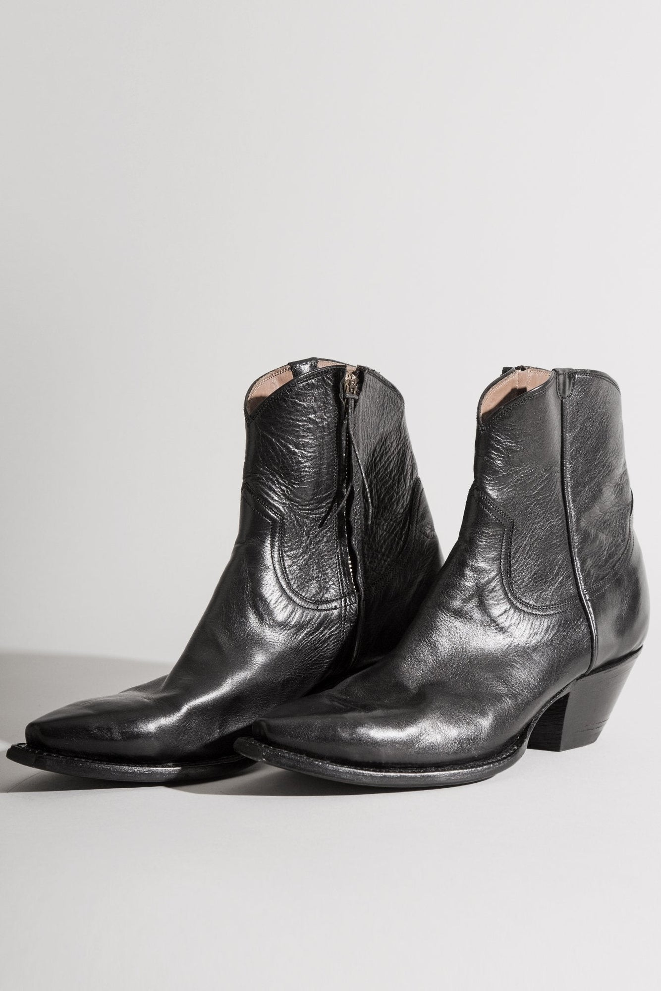 Cowboy Ankle Boot Black