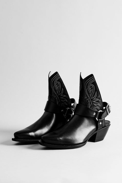 Half Ankle Cowboy Boot with Harness