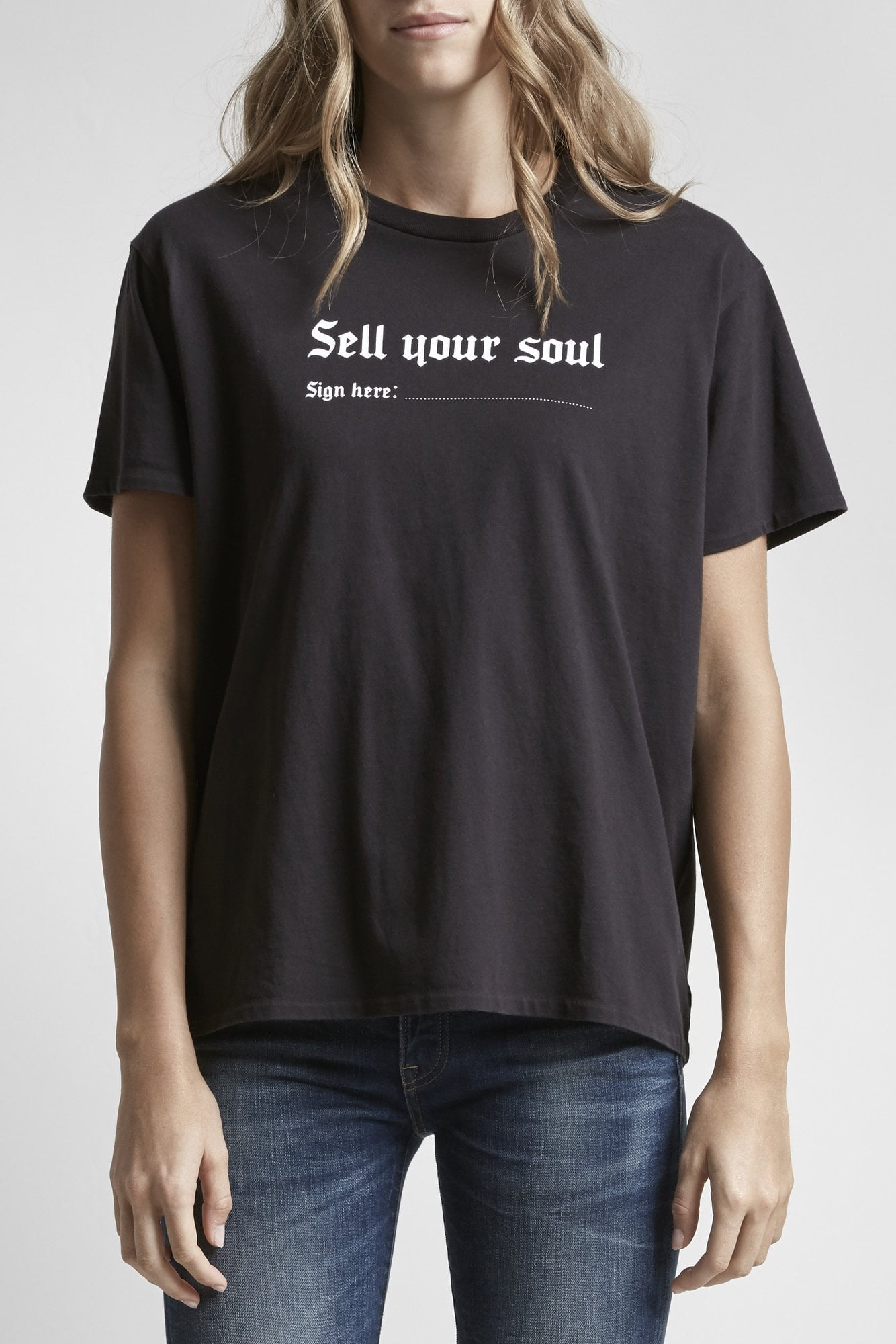 Sell Your Soul Boy T - Washed Black