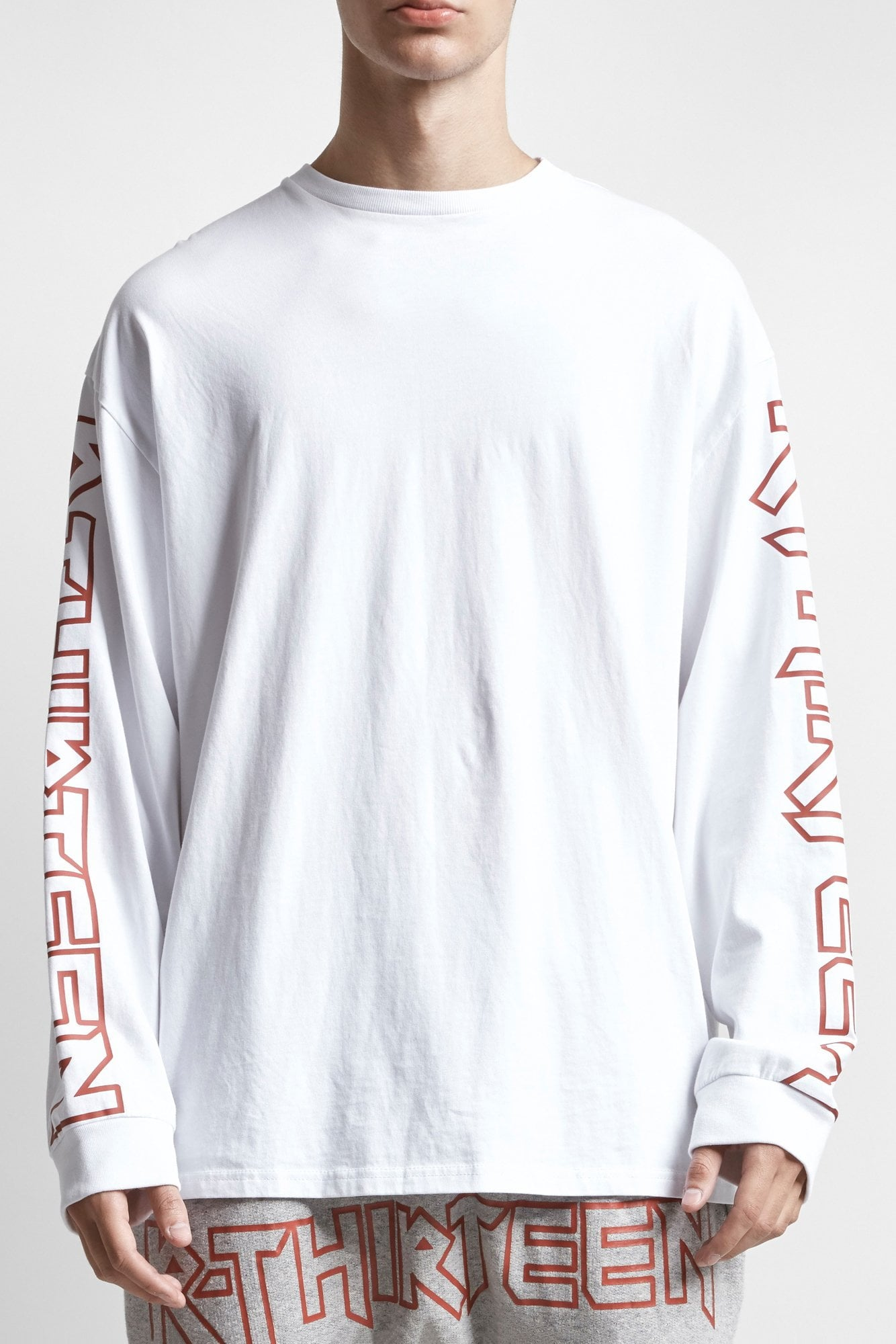 RThirteen Long Sleeve T - White
