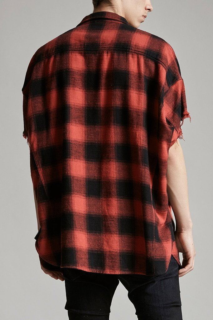 Oversized Cut-off Shirt