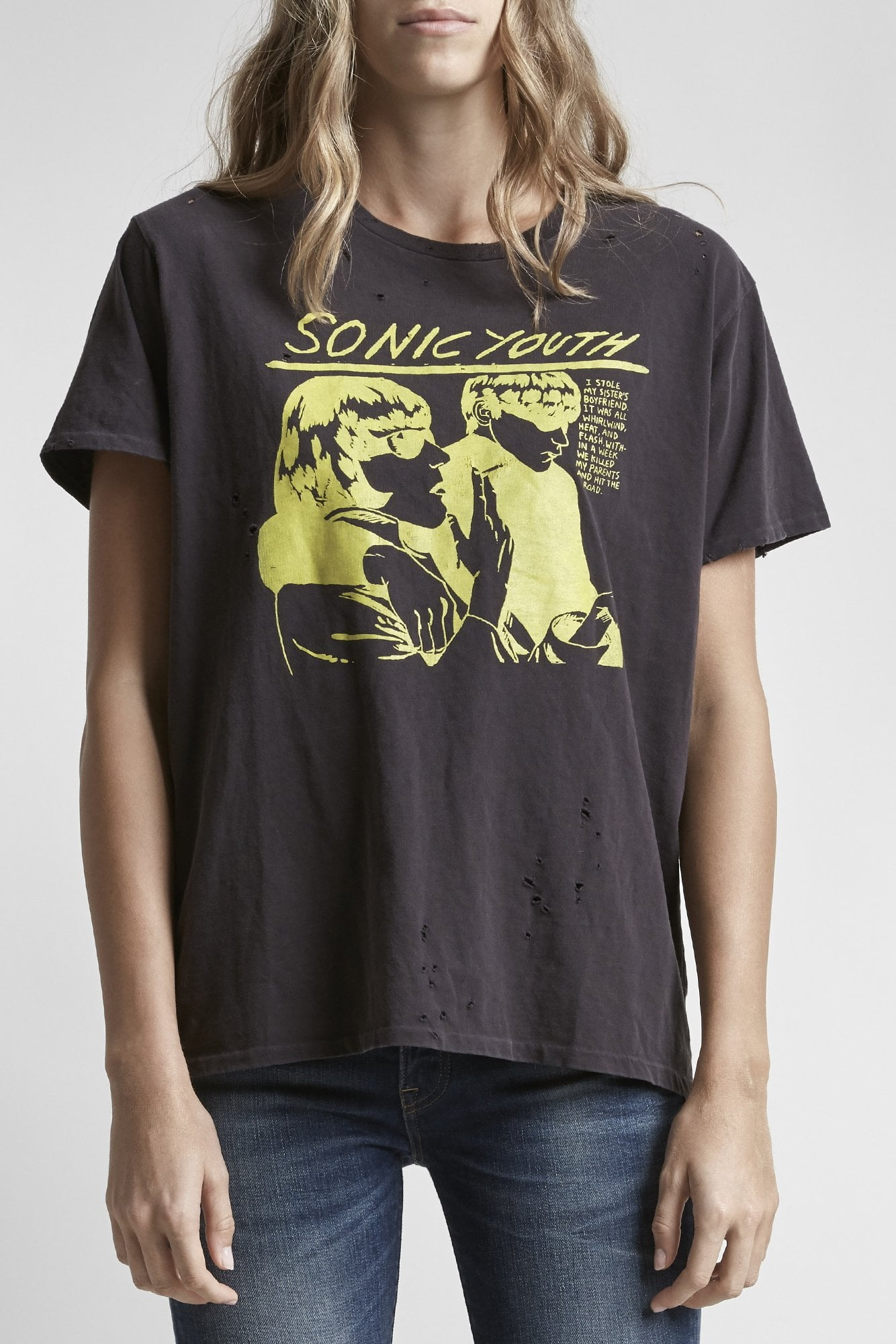 Sonic Youth Boy T-Washed Black