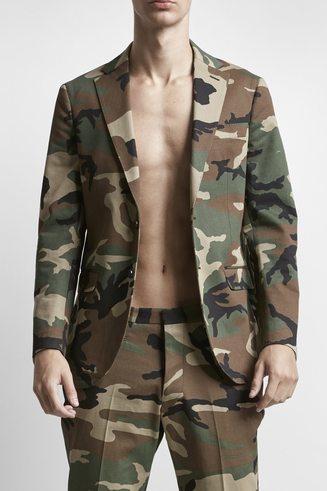 Tailored Blazer- Camo