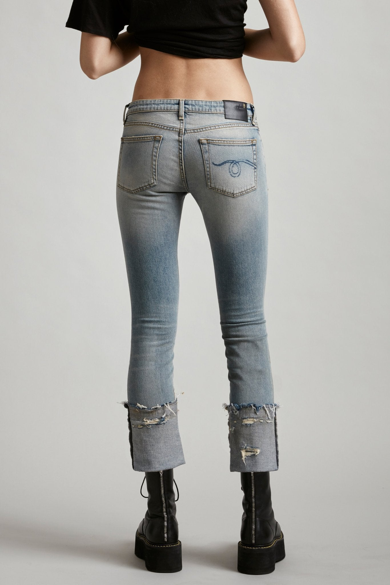 Kate Skinny with Cuff- Leyton Blue