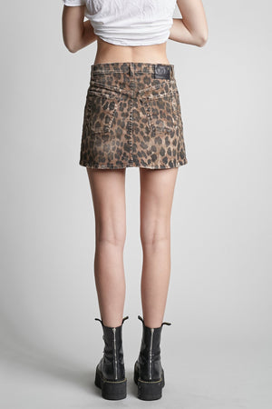 High Rise Mini Skirt - Leopard