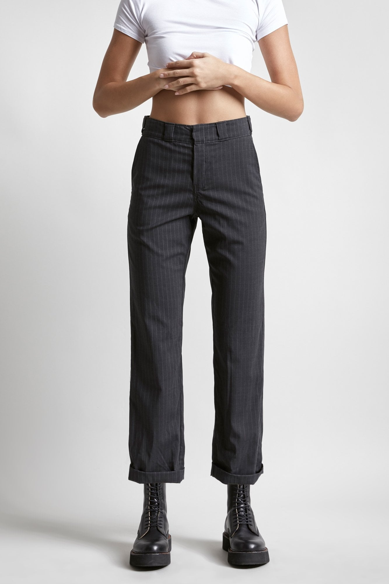 Slouch Pant-Grey Stripe