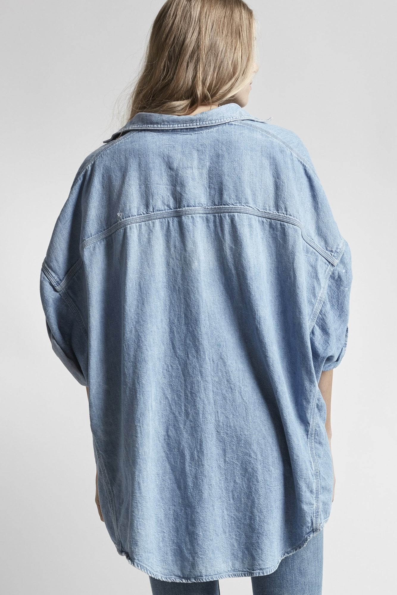 Patti Oversized Short-Sleeve Shirt - Timmy