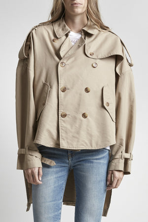 Tuck-In Trench-Khaki