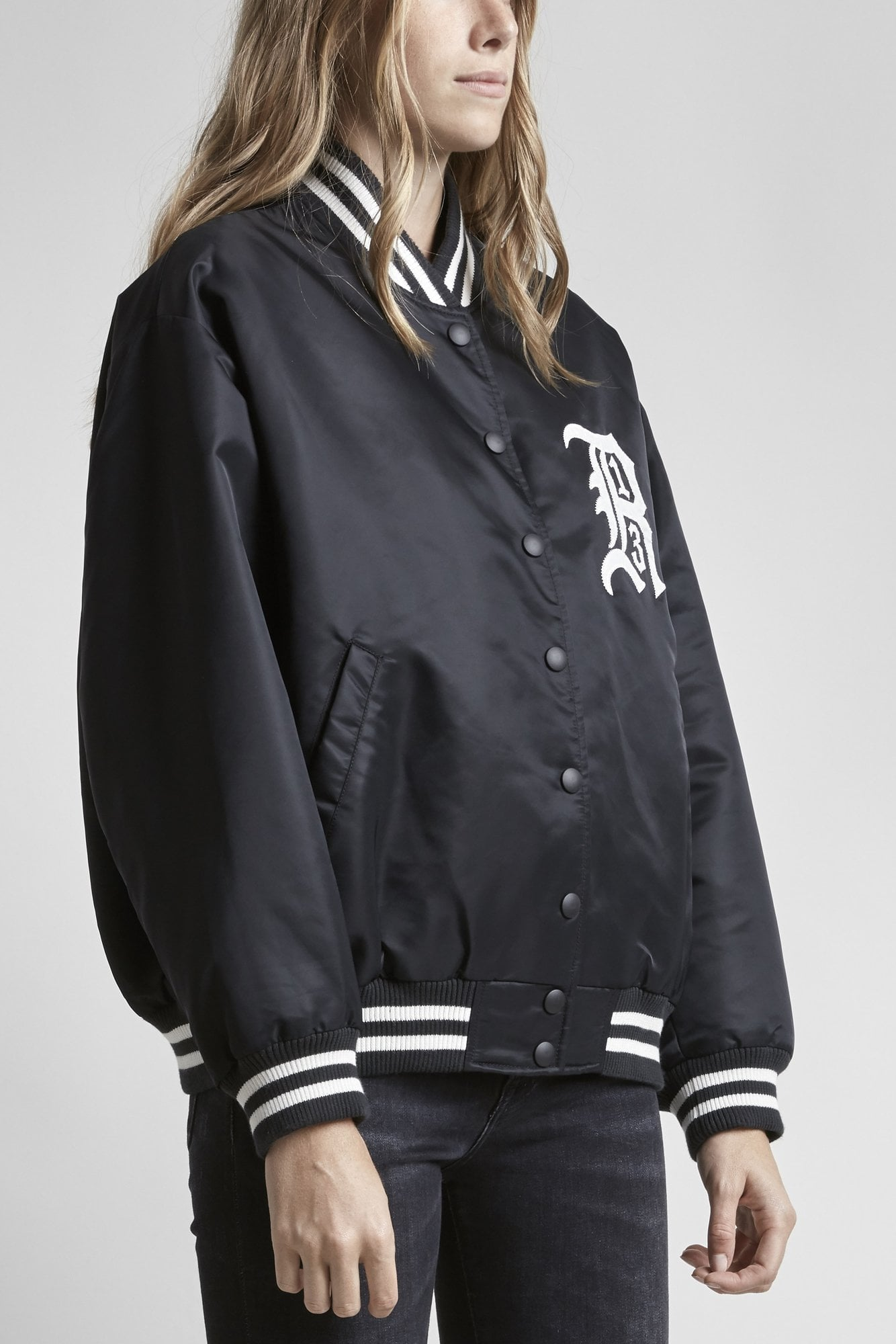 R13 Logo Jacket - Black