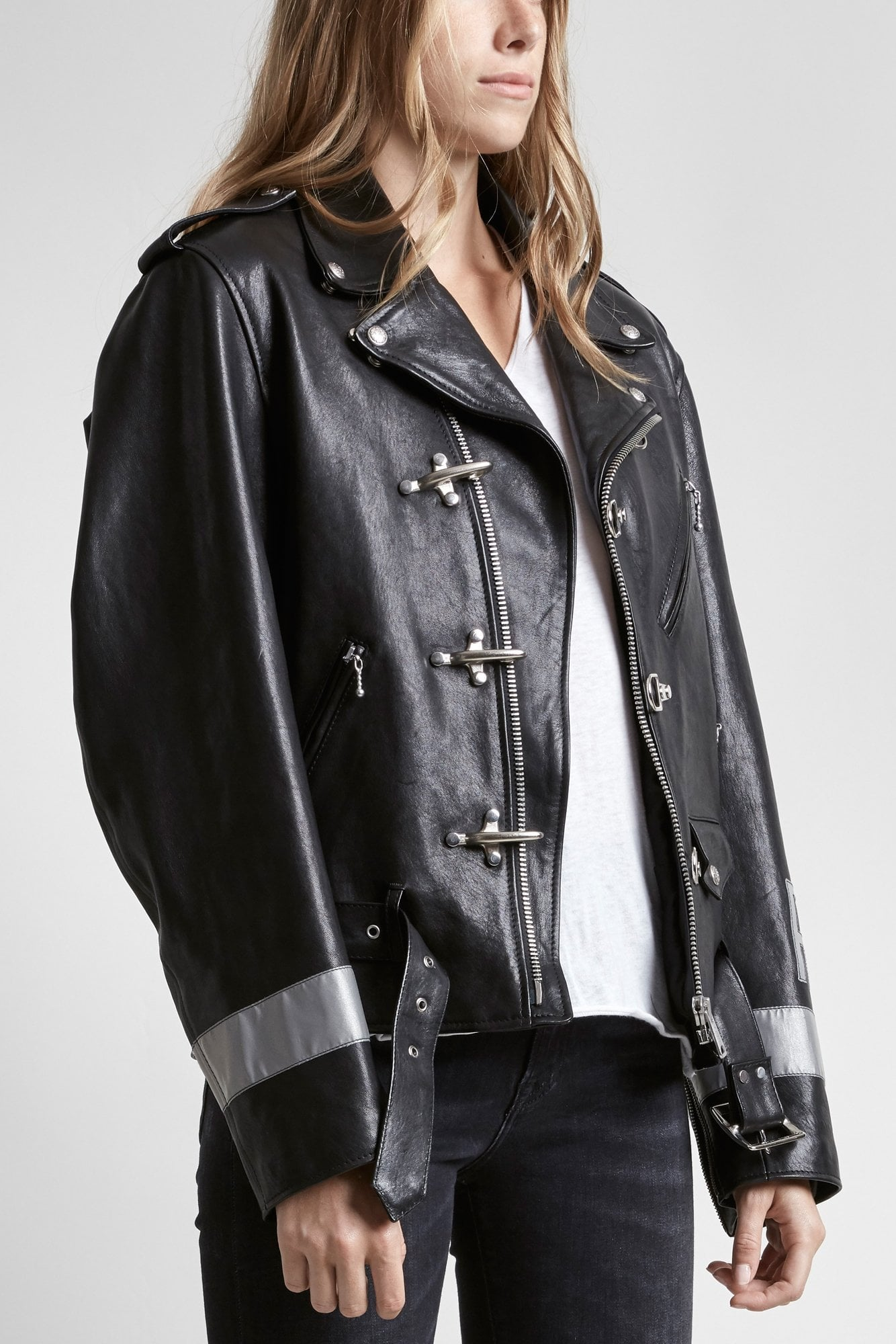 Motorcycle Jacket W/ Hooks