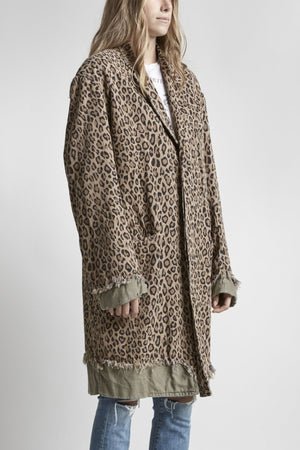 Shredded Coat - Leopard with Olive