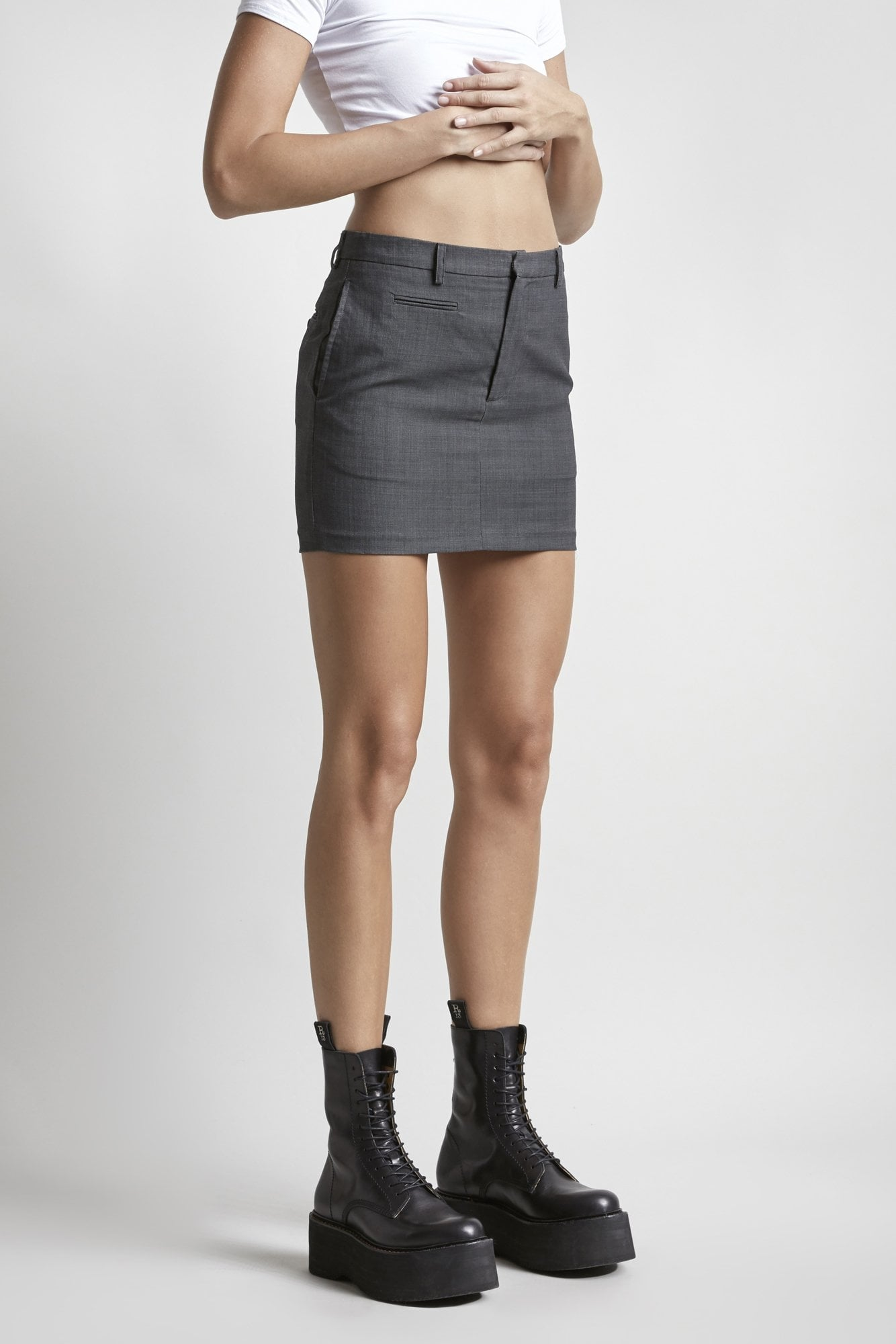 Mini Skirt - Grey