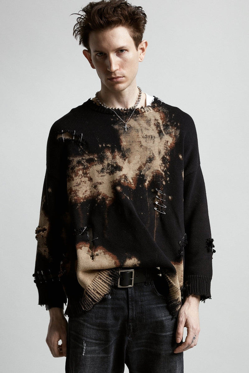 Bleached Distressed Crewneck