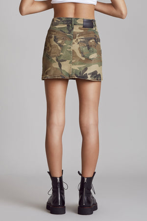 High Rise Mini - Beige Camo