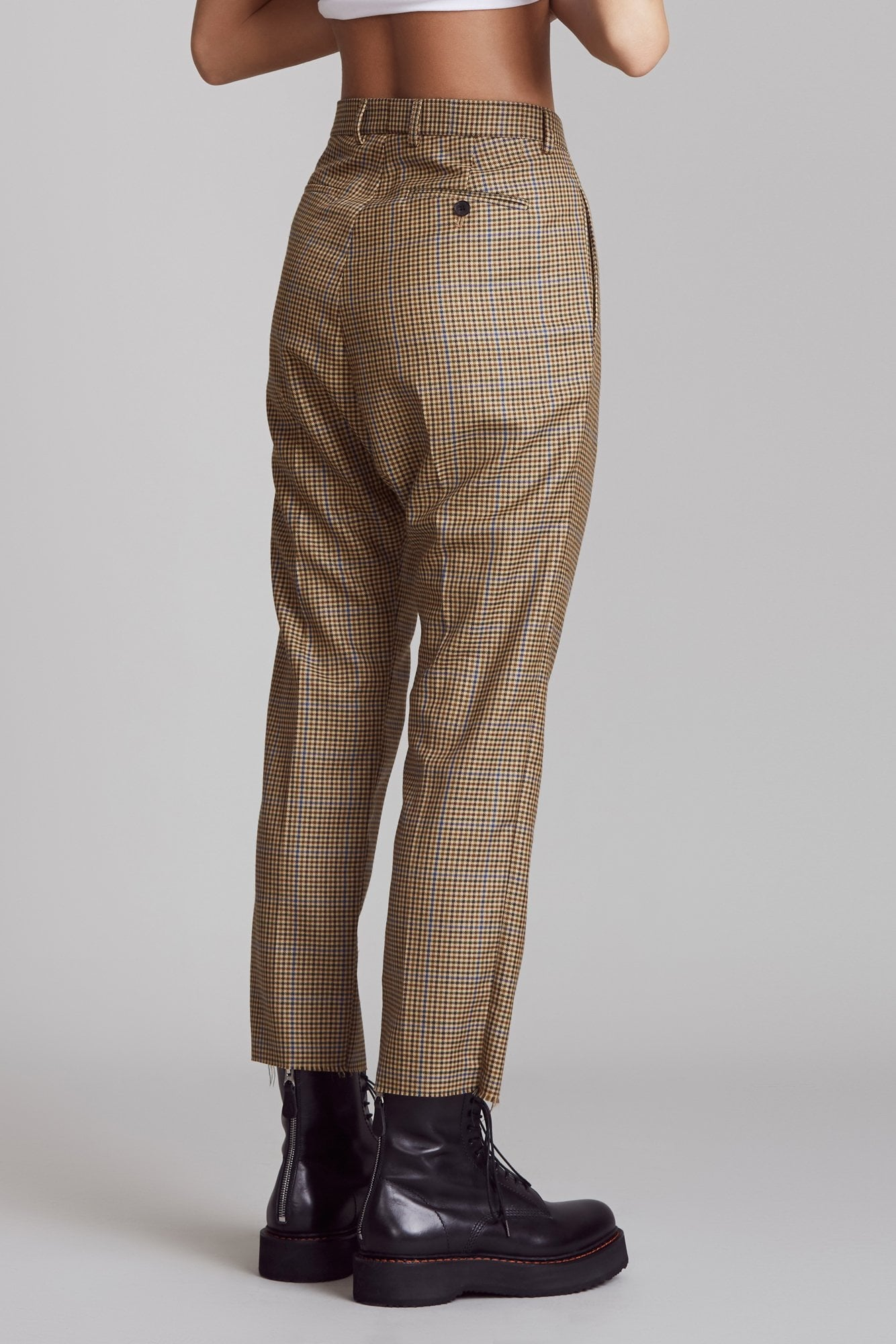 Tailored Drop Trouser - Brown Multi Check