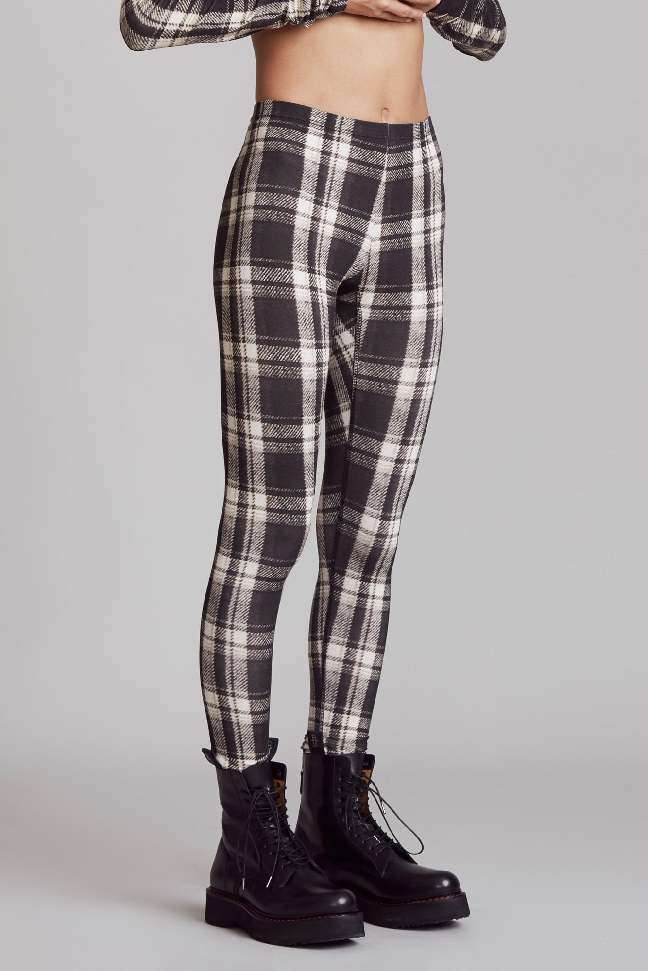 Black and White Plaid Legging