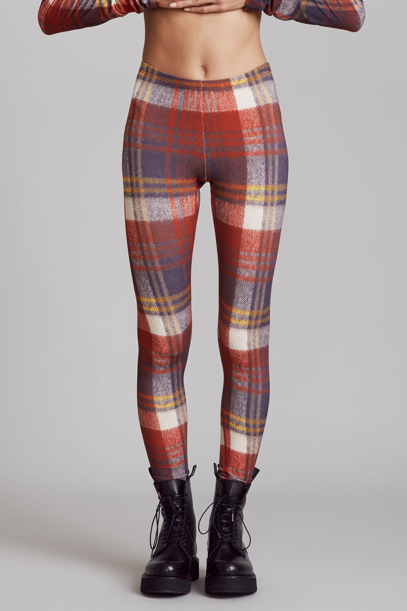 Red Plaid Legging