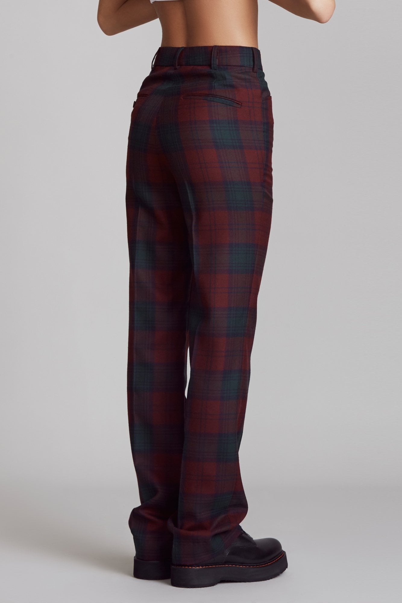 Colleen Pant - Maroon Plaid