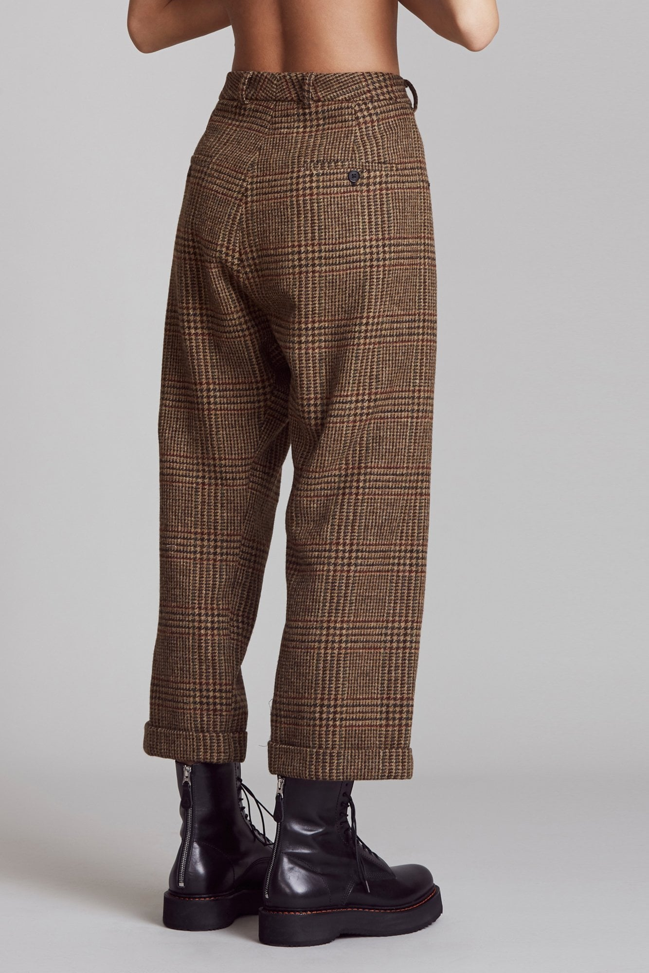 Crossover Trouser - Brown Multi Glenplaid