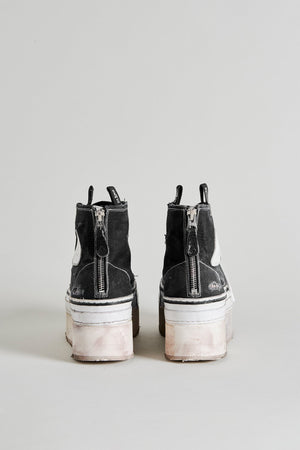 Platform High Top Sneakers - Black