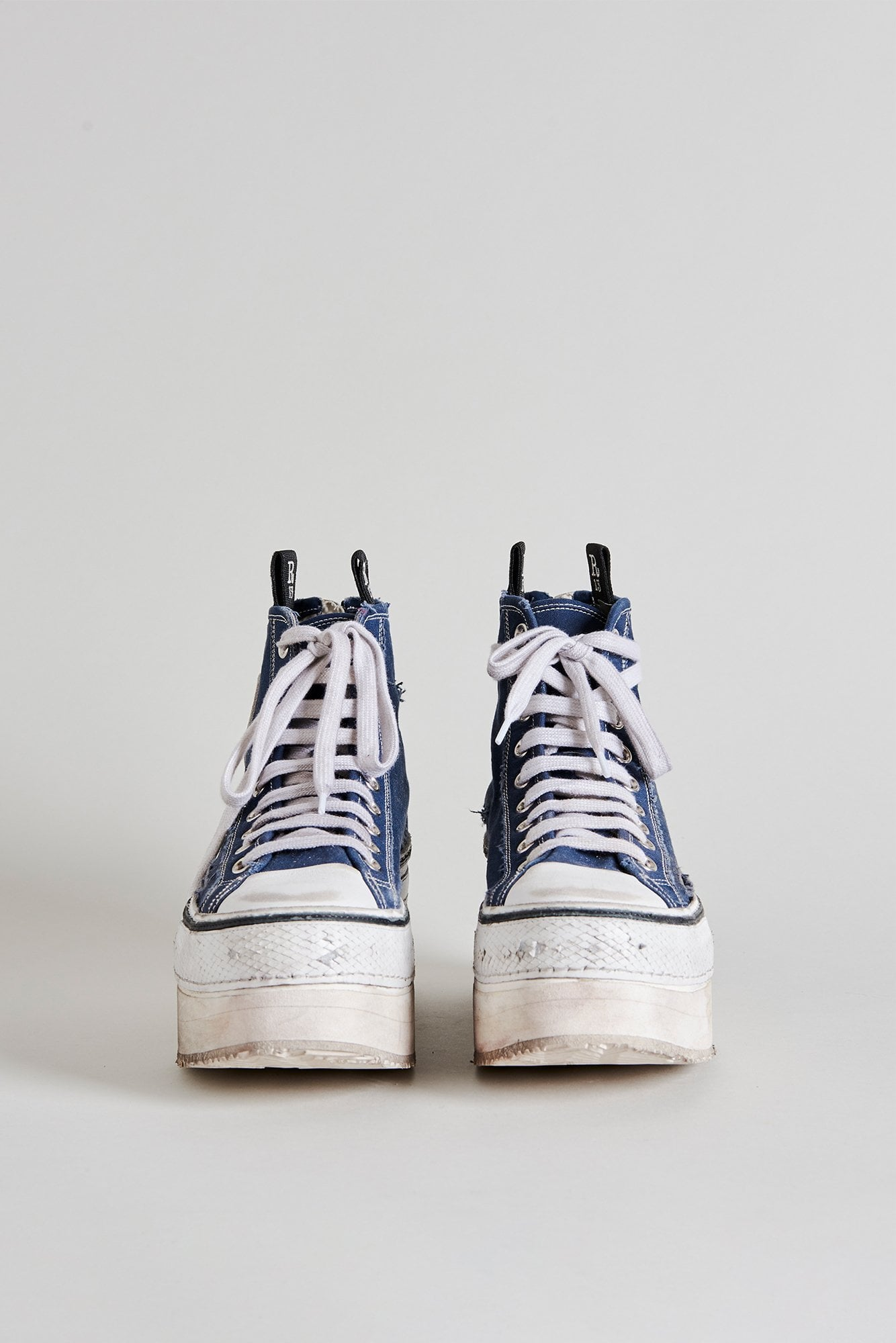 Platform High Top Sneakers - Navy