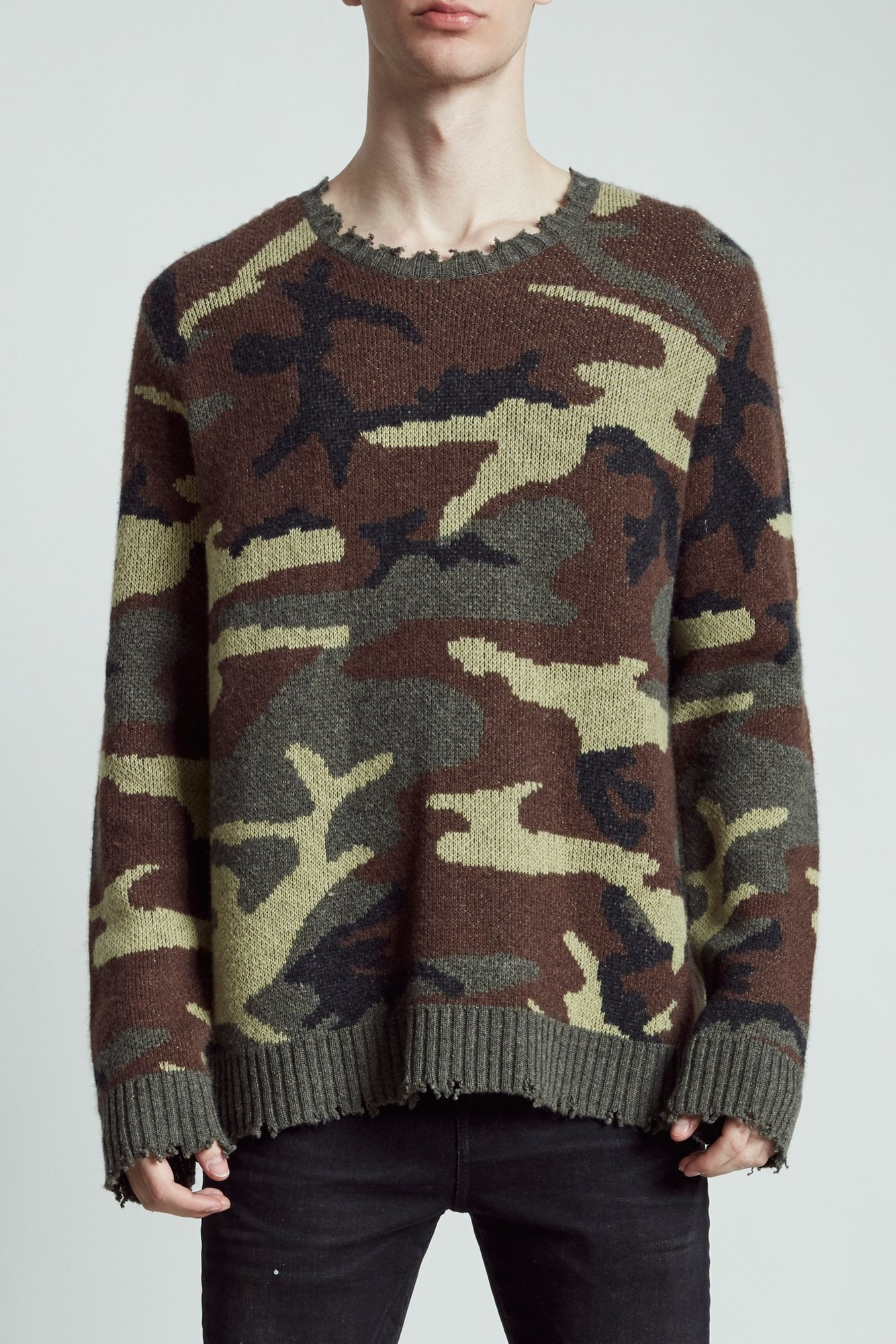 Camo Crewneck Sweater