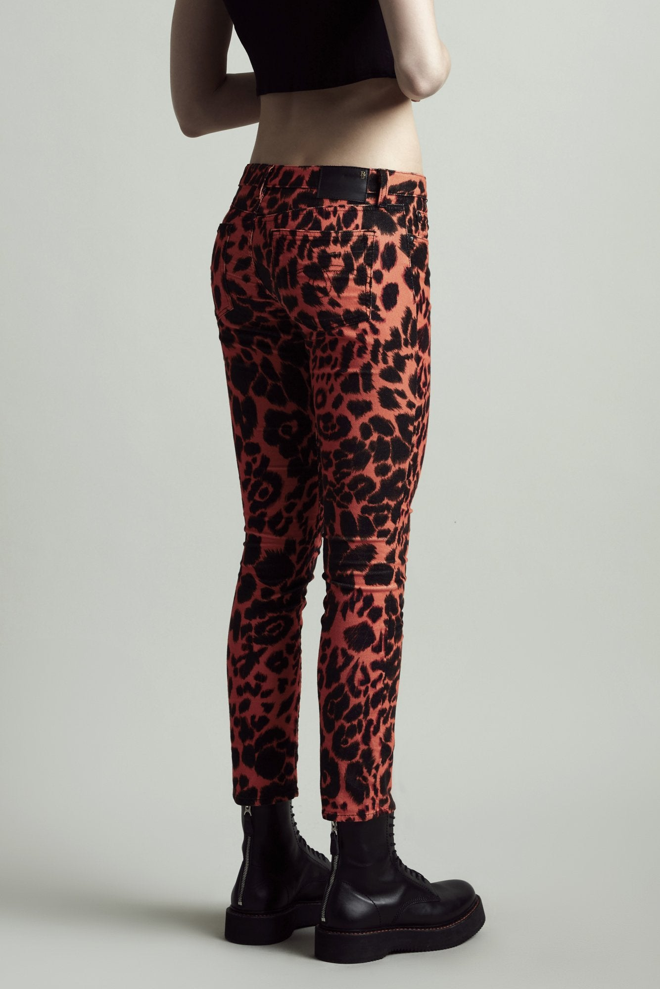 Kate Skinny - Orange Leopard