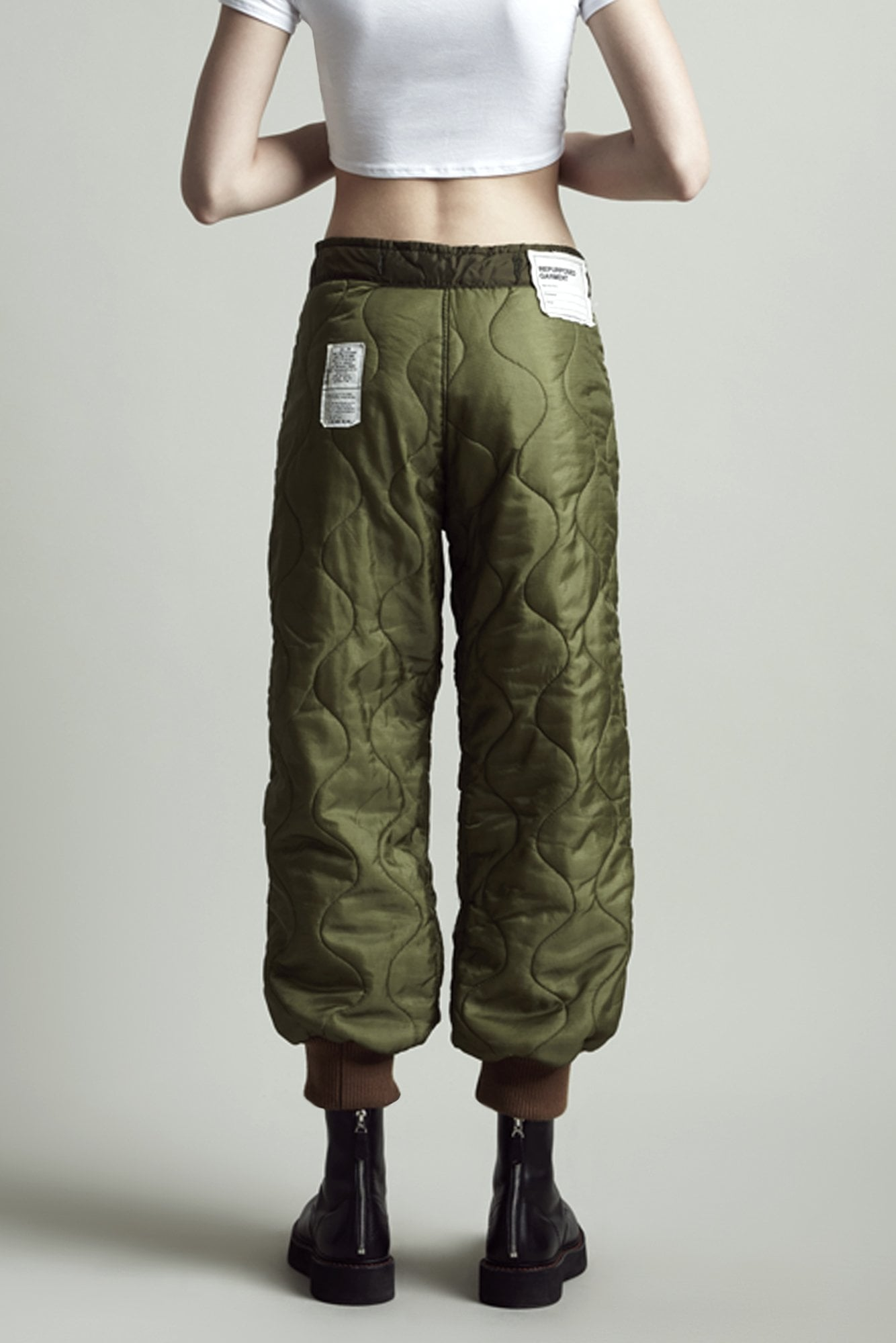 Refurbished Quilted Crossover Pant