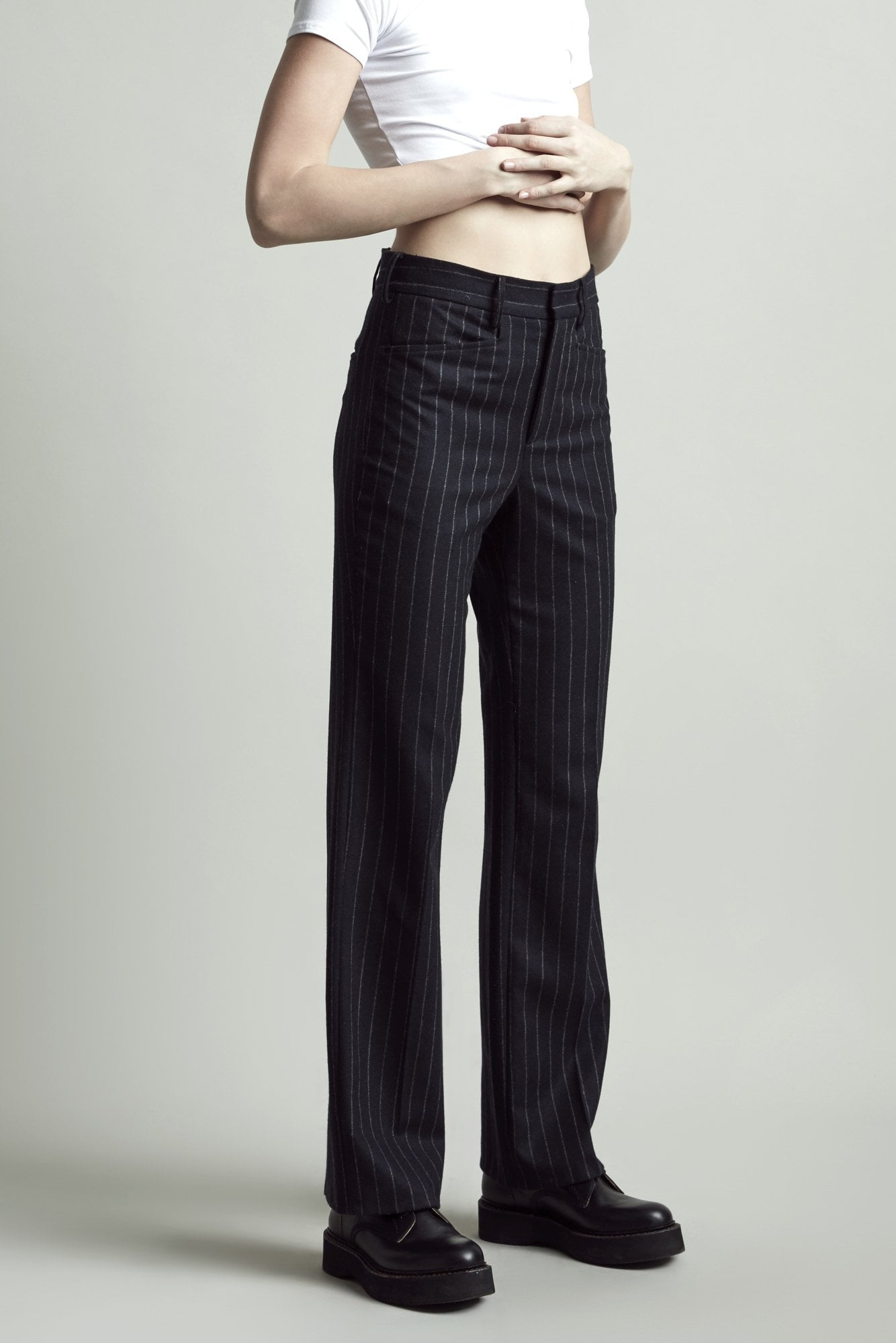 Colleen Pant – Navy Pinstripe