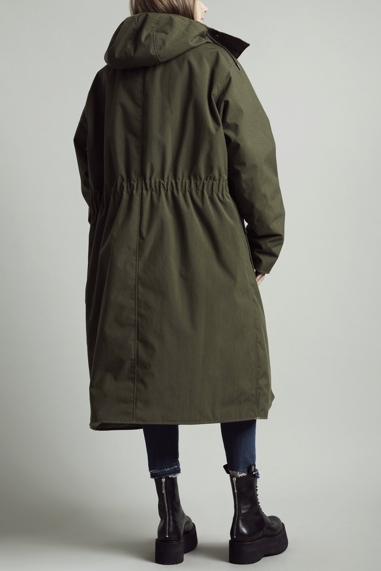 Long Anorak Puffer Jacket - Khaki and Camo