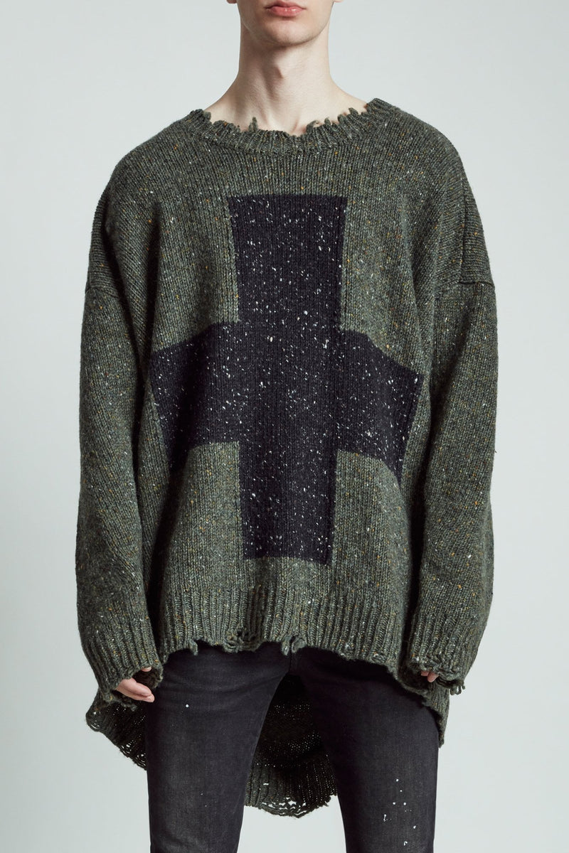 Cross Donegal Sweater