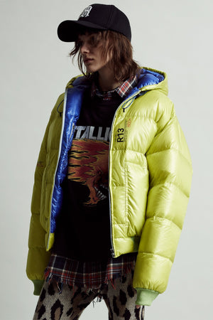 Down Jacket – Lime/Bright Blue