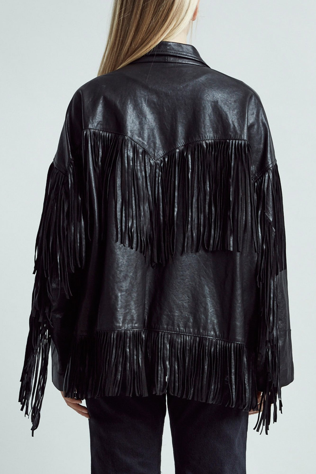 Fringe Jacket – Black
