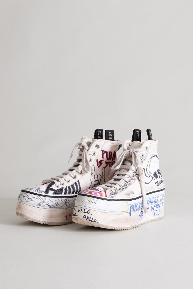 Punk is Dead Platform High Top Sneakers