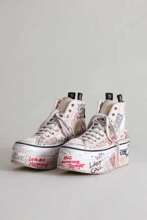 Rock and Roll Platform High Top Sneakers