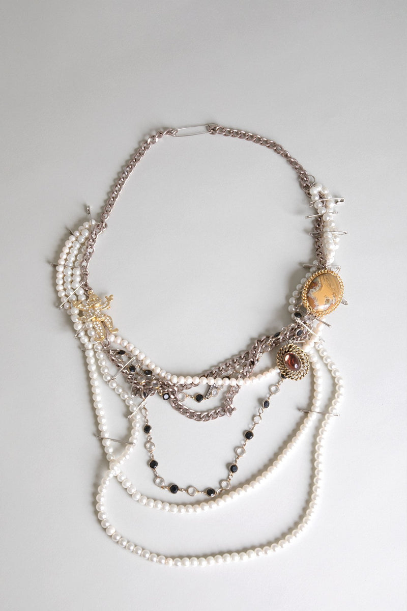 Punk Pearl Man Necklace