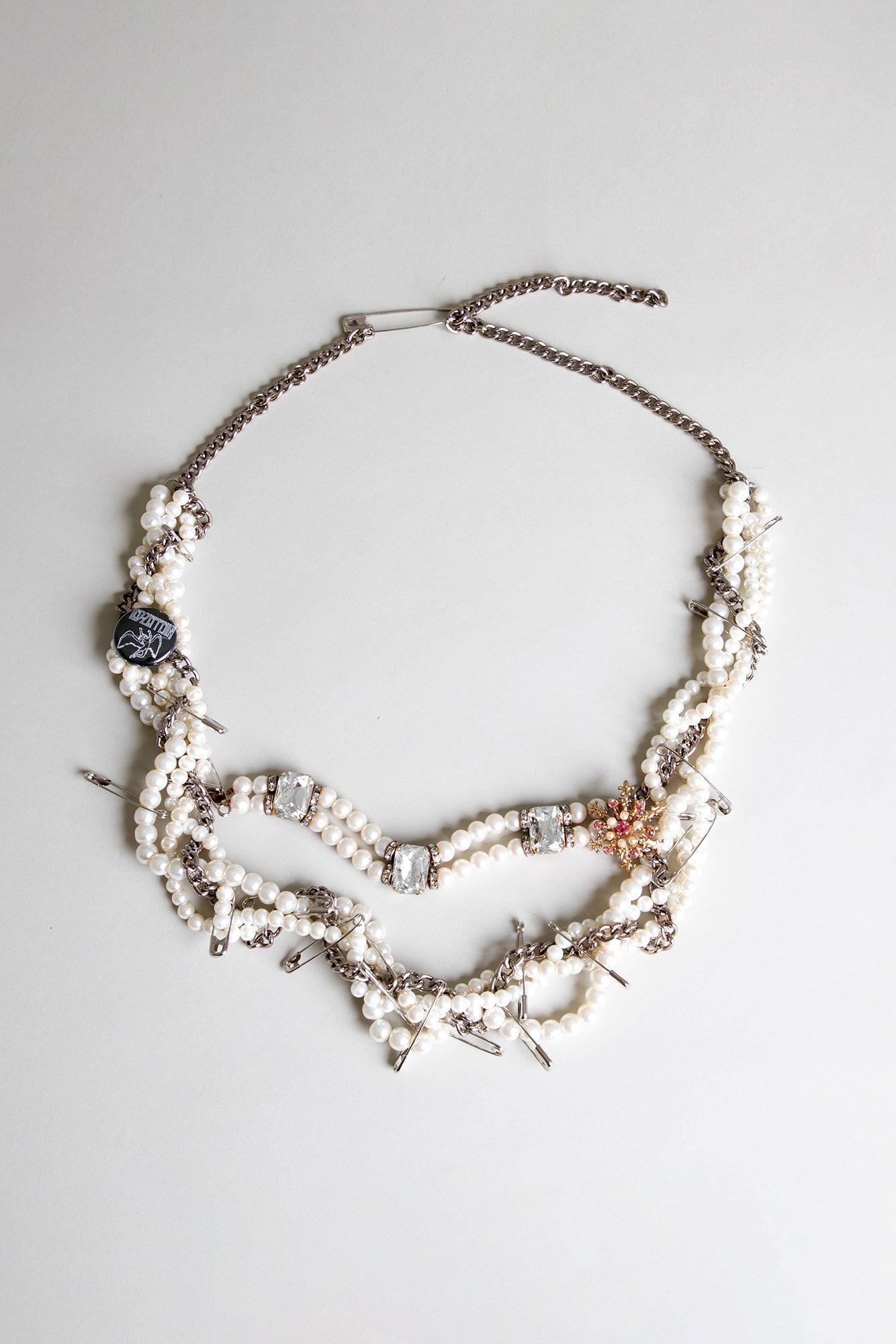 Punk Pearl Three Diamond Necklace