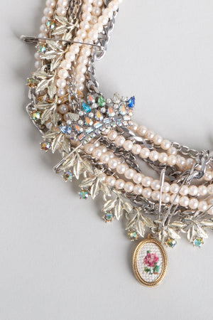 Punk Pearl Crown Necklace