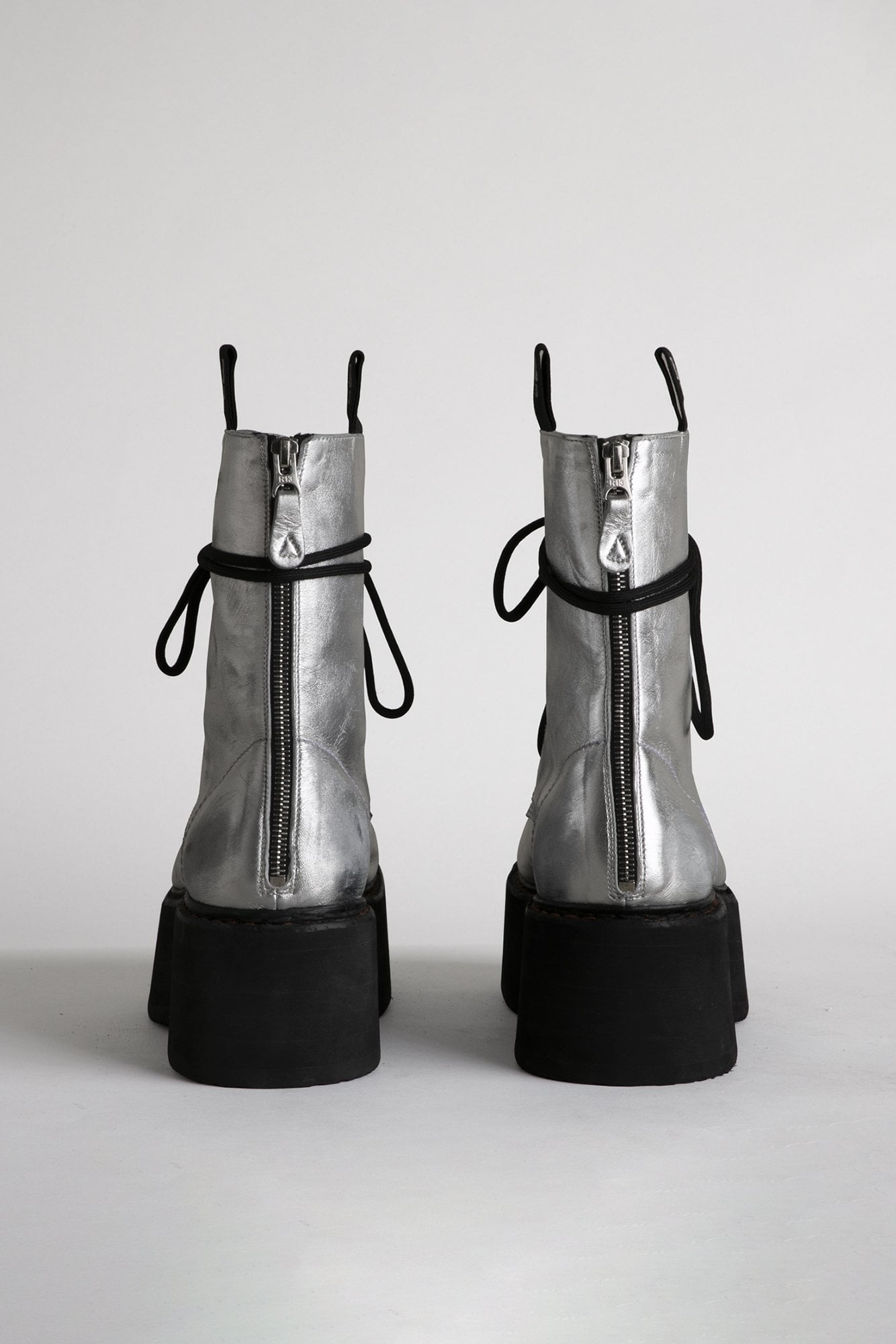 Double Stack Boot - Silver