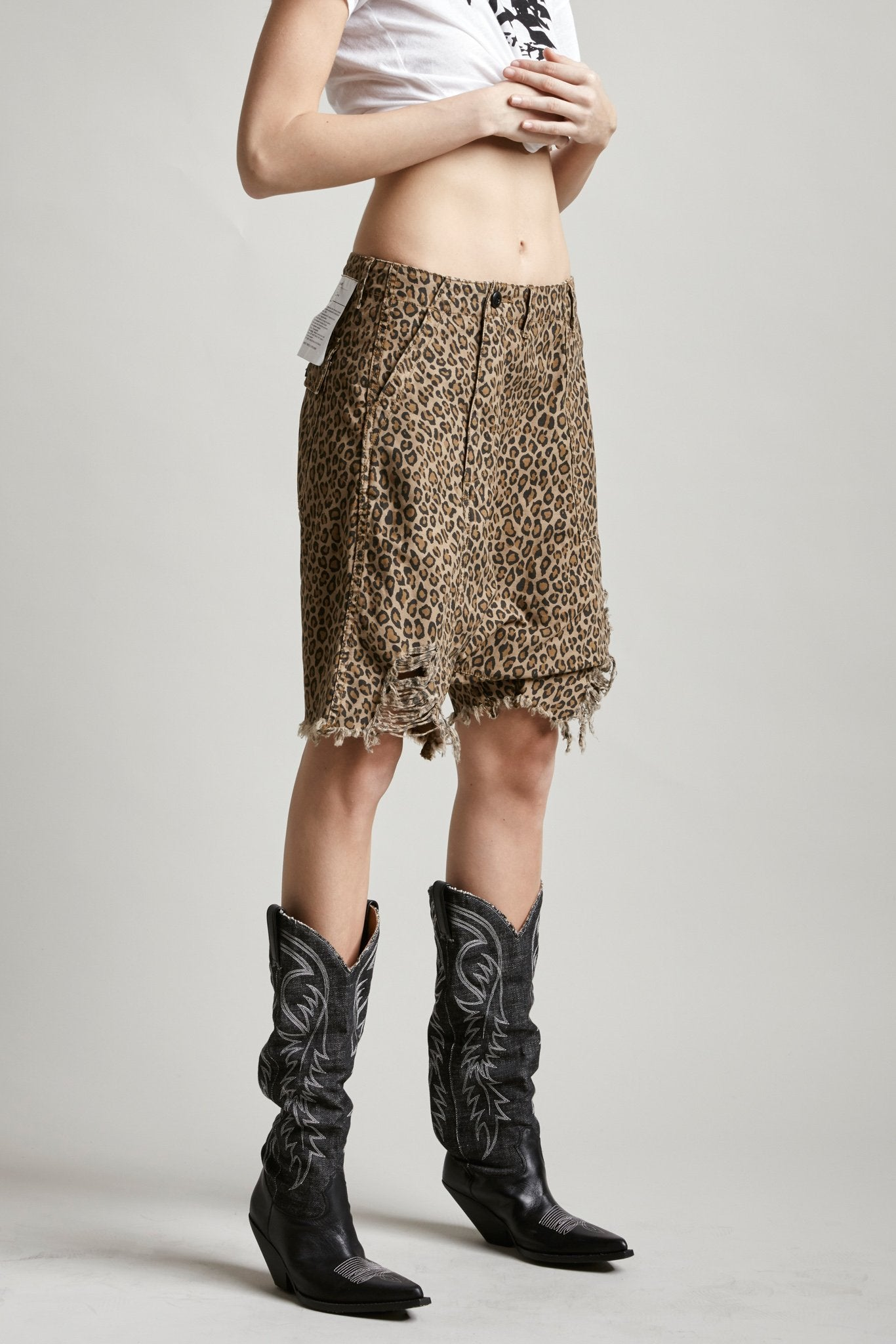 Leopard Twisted Utility Short - Leopard