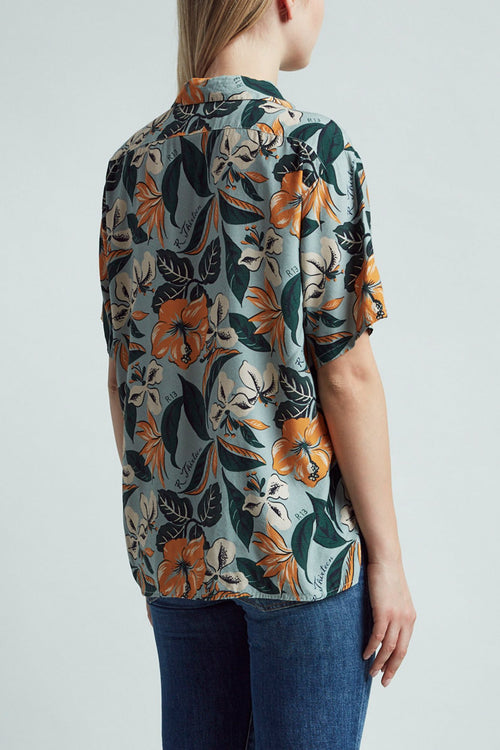 Hawaiian Shirt – Blue Floral