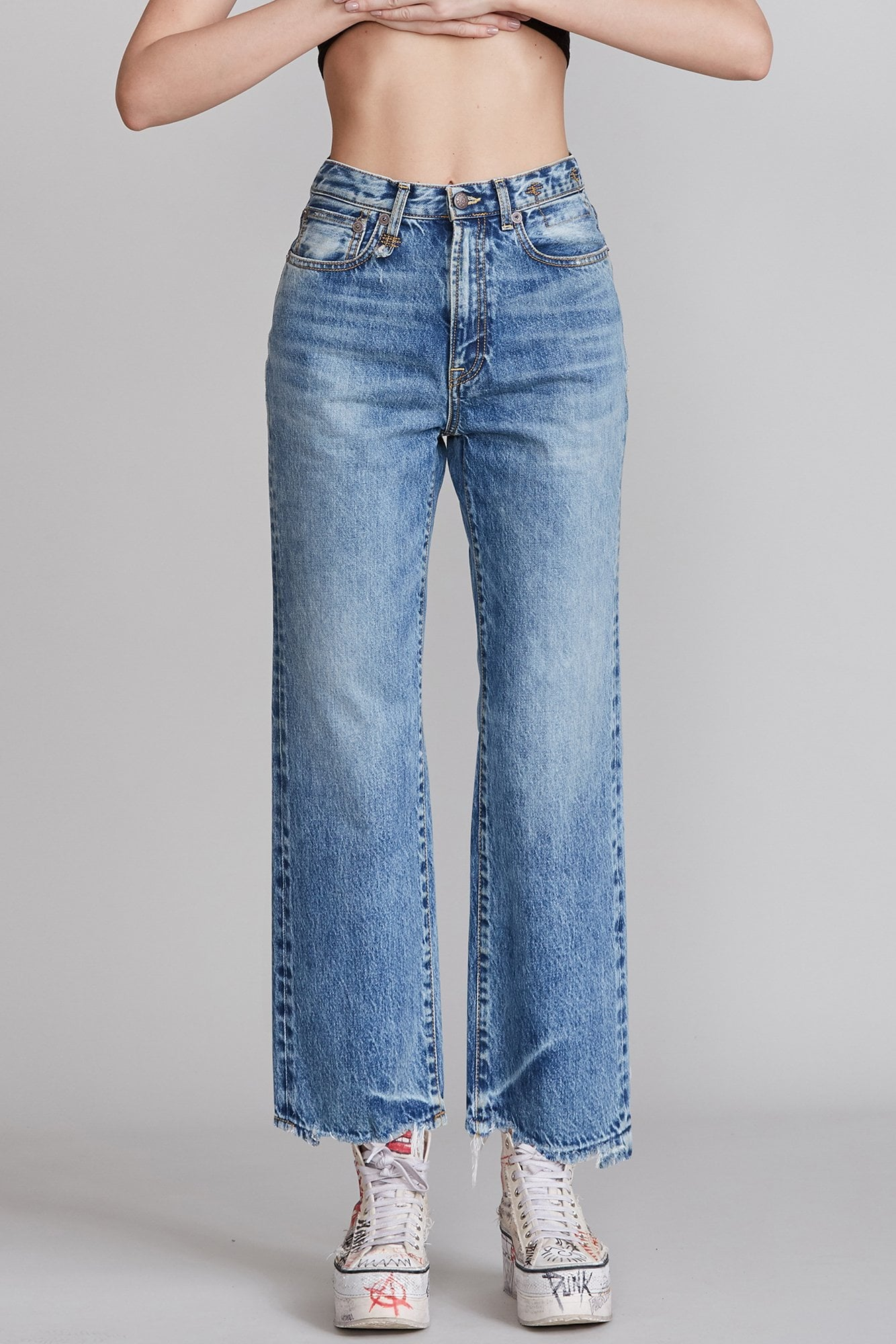 Royer Cropped Jean - Benji Blue