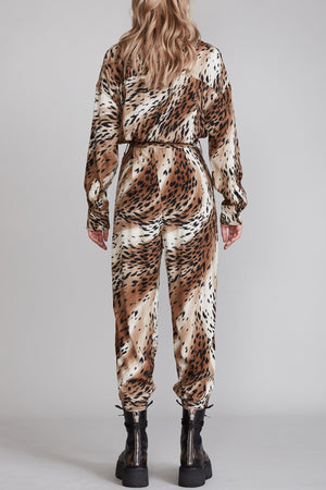 Utility Jumpsuit - Abstract Cheetah